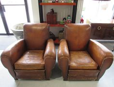 French Art Deco lounge chairs