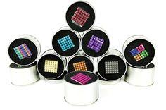 2016new Бесплатная доставка 5 мм 216 шт. Neo Cube Magic Cube Puzzle Магнитные Шарики с металлической коробки головоломки магнитный шарик