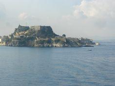 Blick von der Fähre aus: Abschied von Korfu