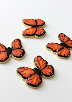 Orange Butterfly Cookies