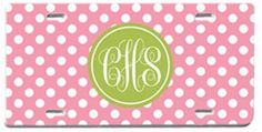 Personalized Monogrammed License Plate by rrpage on Etsy, $25.00
