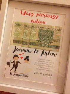 Zobacz zdjęcie Alternatywa dla kartki na wesele ;) Ramka z pierwszym milionem młodej pary w pełnej rozdzielczości