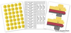 Aussie Pumpkin Patch: Lego Party Printables