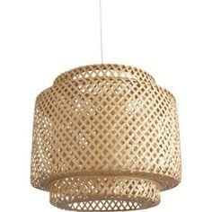 Suspension, e27 éthnique Doramu bambou naturel 1 x 60 W INSPIRE | Leroy Merlin