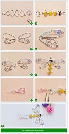 How to Make Handmade Wire Wrapped Dragonfly Hanging Decoration with Glass – D. How to Make Handmade Wire Wrapped Dragonfly Hanging Decoration with Glass How to Make Handmade Wire Wrapped Dragonfly Hanging Decoration with Glass Wire Crafts, Jewelry Crafts, Cd Crafts, Wire Wrapped Jewelry, Wire Jewelry, Jewlery, Lc Jewelry, Jewelry Rack, Fashion Jewelry