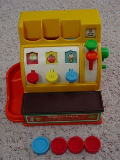 Vintage 1974 Fisher Price Cash