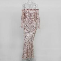 NATTEMAID Off Shoulder Black Maxi White Dress Mesh Bodycon Sequin Dress  Women Strapless Party Sexy Winter Dresses Vestido ff968d4d5f2d