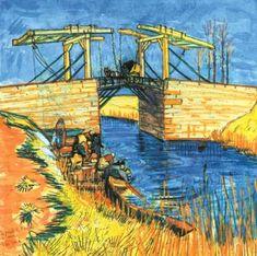 Vincent van Gogh (1853-1890) Le pont de Langlois à Arles