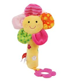 Linzy Toys Flower Rattle Stick Teether Toy   zulily