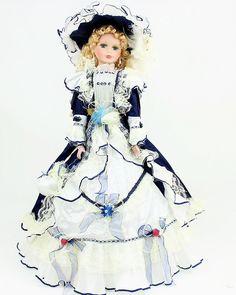 26 inch Umbrella Porcelain Dolls Victorian Style