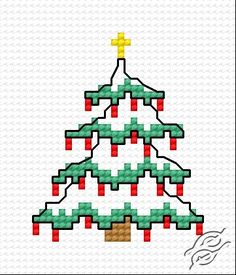 Christmas Tree VI - Free Cross Stitch Pattern                                                                                                                                                                                 More