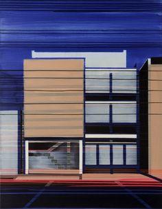 """Saatchi Online Artist: Cécile van Hanja; Oil, 2004, Painting """"Façade1"""""""