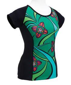 bc4f2dcb1 Black  amp  Emerald Floral Tee by Moxie Cycling  zulily  zulilyfinds Bike  Shirts