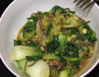 Meat Lite: Stir Fried Bok Choy with Soba Noodles