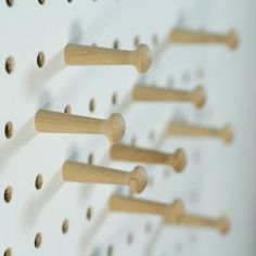block-pegboard-pegs to spell the series name out