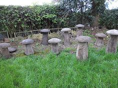 Staddle stones #garden #ornament mushroom #toadstool antique salvage saddle,  View more on the LINK: 	http://www.zeppy.io/product/gb/2/252712258763/