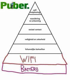 Maslow 2016 - prioriteiten zijn aan het veranderen - ook bij volwassenen, hoor... ;-)  #maslow #puber