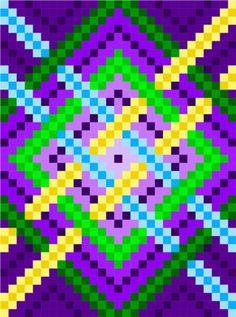 0074 Woven Squares Quilt Pattern Melty Bead Patterns, Cross Stitch Patterns, Pattern Art, Print Patterns, Pattern Ideas, Bargello Quilt Patterns, Postage Stamp Quilt, Graph Paper Art, Pixel Art Templates