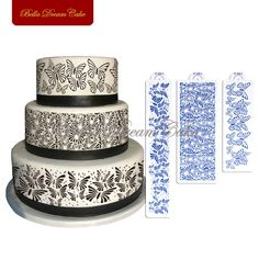 ART Kitchenware Butterflies Stencil for Cake Side Decoration Fondant Wedding Cake Decorating Stencil Mold Icing Royal Stencil Tool Beige/Semi-Transparent Butterfly Stencil, Butterfly Cakes, Butterflies, Stencils, Cake Stencil, Fondant Wedding Cakes, Wedding Cake Decorations, Dream Cake, Plastic Molds