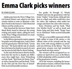 Did you see the article in the Village Times Herald today?