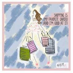 We LOVE shopping!!!  New comic for #glamoursouthafrica #cardio #shopping #fashion #fashcom #fashioncomic #glamour #FashionFriday #illustration @glamoursa