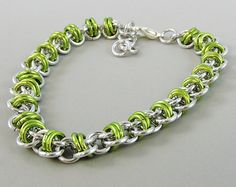 Chainmaille bracelet  Coiled butterfly unique design bracelet