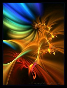 Setting sun by manapi on DeviantArt Neon Rainbow, Color Harmony, More Wallpaper, Color Of Life, Light Painting, Op Art, Fractal Art, Art Pictures, Photos