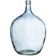 Sfeervolle glazen vaas Noa XXL. Hoogte: 52 cm. Kleur: blauw. #kwantum_woonahaves_vaas1 #kwantum #kwantum_nederland #woonahaves #daarwoonjebetervan