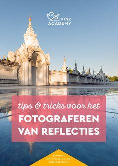Handige fotografietips voor als je een reflectie fotografeert. BIjvoorbeeld in water, maar ook gladde tegels reflecteren. Maak je compositie spannend met een een reflectie!