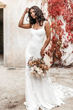 Untamed Heart | The Brand New Wedding Dress Collection from Lovers Society S Curves, Gowns, New Wedding Dresses, Dress Collection, Bell Sleeves, Backless, Feminine, Lovers, Brand New