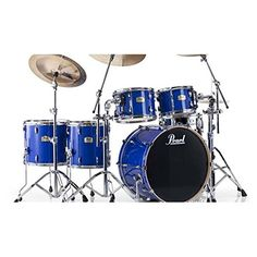 Pearl SSC924XUP/C Session Studio Classic 5-Piece Shell Pack - Sheer Blue Pearl jsmartmusic.com