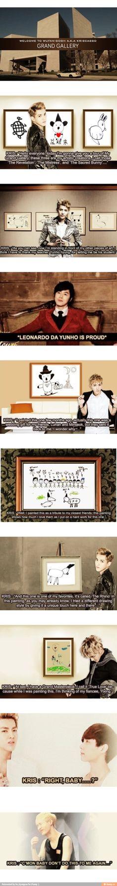 Wu Yi Fan's art gallery everyone. hahahhahahahahahahaha