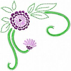 Flowers 5, 11 - 6x10 | What's New | Machine Embroidery Designs | SWAKembroidery.com Gosia Design