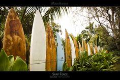 Surf Fence - Maui Hawaii Posters Series - The famous Surf Fence on beautiful Maui, Hawaii.