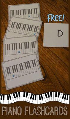 FREE Piano Flashcards | 123 Homeschool 4 Me
