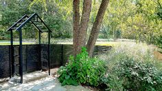 Custom Horizontal Black Wrought Iron Fencing and Pergola Wrought Iron Fences, Fencing, Trellis, Pergola, Outdoor Structures, Plants, Black, Picket Fences, Black People