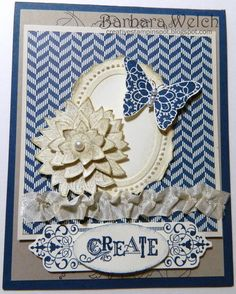 Barbara Welch - Creative Stampin' Spot - Creative Elements - My Very Vintage Swap Card
