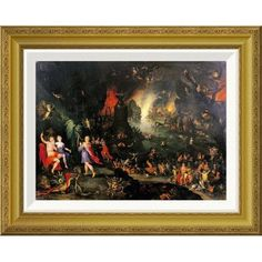 Global Gallery 'Orpheus Playing To Pluto and Persephone' by Jan Brueghel the Younger Framed Graphic Art Size: