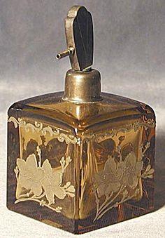 amber perfume bottles | Vintage Amber Perfume Bottle (Perfume Bottles) at Silversnow Antiques ...