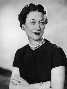 "Wallis Simpson (Bessie Wallis Warfield-Spencer-Simpson) (1896-1986) USA wife of King Edward VIII ""David"" (Edward Albert Christian George Andrew Patrick David) (1894-1972) Prince of Wales, later Duke of Windsor UK"
