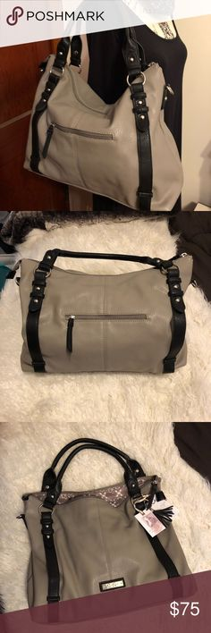💋Jessica Simpson faux leather tote!💋 BNWT- great with a zipper on top to keep things safe! Can fit a laptop no problem! Great bag! It feels like real leather too. Jessica Simpson Bags Totes