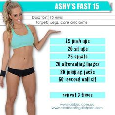 Fast 15 minute workout from Ashy Bines
