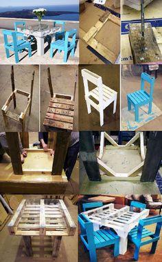 Mesa e Cadeira pallets