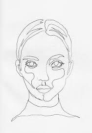 Bilderesultat for Continuous Line Drawing portrait