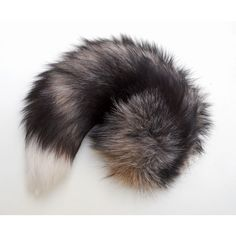 Gray Grey Tan Black White Fox Fluffy Long Fur Wolf Dog Tail Inumimi... ($89) ❤ liked on Polyvore featuring cosplay