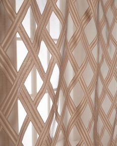 Isabella Collection by Kathy Fielder Sophia Sheer Curtains. These will look good in any livingroom. Dove House, Pink Home Decor, Trellis Pattern, Home Additions, Sheer Curtains, Interior Accessories, Innovation Design, Window Treatments, Furniture Decor