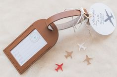 Personalized Luggage Tag Wedding Favors See more here: http://www.etsy.com/shop/lovetravelsfavors