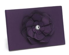 Floral Guest Book in Purple - Perfect for a wedding in a vineyard or a wine-themed wedding! - Wine Country Occasions, www.winecountryoccasions.com