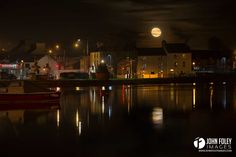 """Moon rise in Dungarvan tonight. Do you prefer black and white or color?"