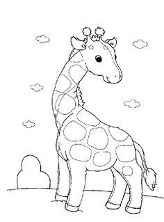 Cute Giraffe Preschool Coloring Pages Free